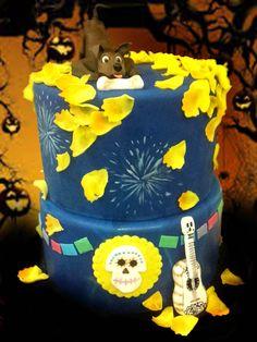 Tort z motywem Dante i gitarą z bajki Disneya Coco - Disney Coco cake with Dante caketopper and guitar