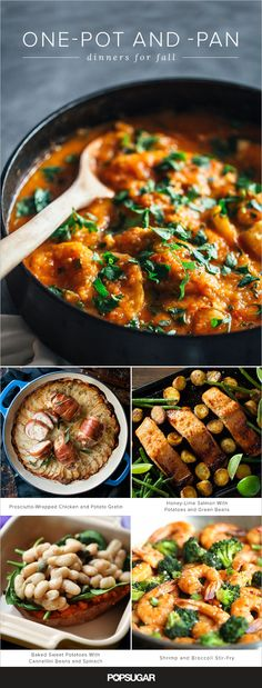 """Fall might just be one of our favorite times to eat — not only do the temperatures finally drop enough to crank up the oven, but it's also harvest season. We've rounded up more than 20 cozy one-pot and -pan recipes starring these autumnal ingredients, because no one ever said, """"yay, dirty dishes!"""""""