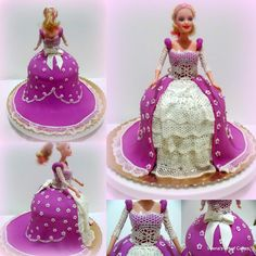 Lace Inspired Princess Cake - Veena's Art of Cakes