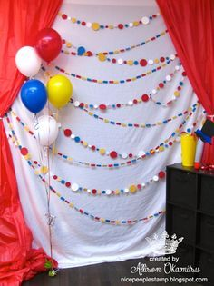 circus photo booth backdrop - Google Search