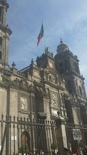 Front facade of Catedral Metropolitana. Mexico City. MEXICO.