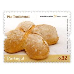 """Pão de Quartos - Beira Interior  Série de selos """"A Tradição do Pão em Portugal"""""""