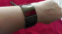 Metal & Red Stone Bracelet