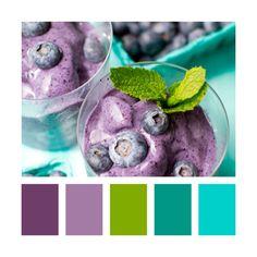 Colour Palettes - blueberry and mint