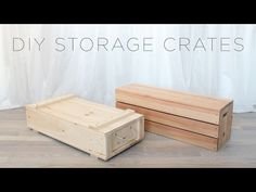 How to make wood storage crates. full instructions and drawings coming soon to… Wooden Crates Tv Stand, Crate Tv Stand, Wooden Storage Crates, Crate Bench, Wood Crates, Diy Storage Crate, Storage Bins, Home Decor Furniture, Furniture Plans