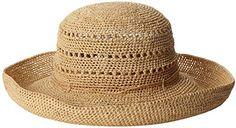 Gottex Women's Samara-Crochet Raffia Packable Sun Hat