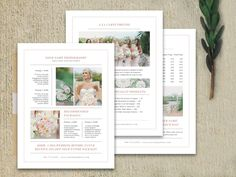 Wedding Pricing Guide Set by Bittersweetdesignboutique on Creative Market