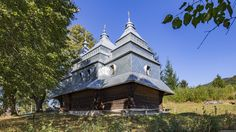 Church of the Archangel Michael, Vyshka, Ukraine  This church, an architectural monument of national importance, was built approximately in 1700. At the end of the 20th century, the roof of the church was covered with iron plates, which greatly changed its original appearance.