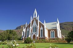 Church in Piketberg (Dutch Reformed) [Cape Town, South Africa) Cathedral Church, My Church, Church Fundraisers, Old Churches, Church Architecture, Church Building, Chapelle, Place Of Worship, Kirchen
