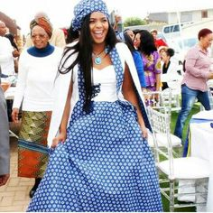 South African Traditional Dress For Black Women - Pretty 4 South African Traditional Dresses, Traditional Wedding Dresses, Traditional Outfits, Traditional Weddings, African Attire, African Wear, African Dress, Wedding Dresses South Africa, African Wedding Dress