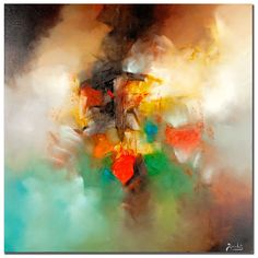 This contemporary abstract print by Zavaleta will liven up any room in your house while giving it a modern touch. The colors and shapes in the giclee will tease the imagination of your guests, setting the stage for interesting conversations.