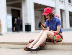 Fashion and the city.  Street style : repérages de looks à la sortie des défilés printemps-été 2013 de New York et de Londres #LFW #NYFW