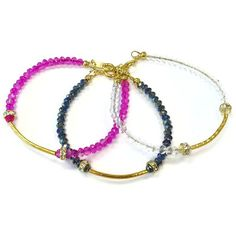 Crystal Bracelet Bridesmaid Bracelet Dainty Yellow Gold by cdjali, $16.00