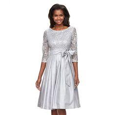 Women's Jessica Howard Pleated Jacquard Fit & Flare Dress