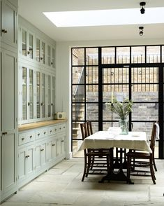 Ultimate #kitchengoals; a whole wall of perfectly fitted bespoke Classic English cabinets, oh and those Crittall-style doors  #deVOLKitchens