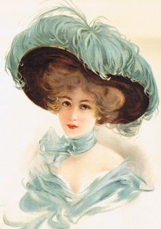 Lady in lavender ostrich hat - See this image on Photobucket.