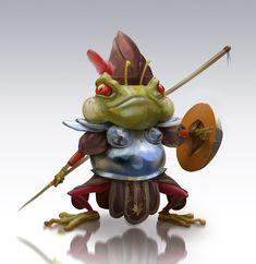 Warrior frog, Marcin Basta on ArtStation at https://www.artstation.com/artwork/wvJ5Y