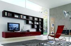Minimalist Bookcase Furniture from Misuraemme Modern Living Room Wall Units for Book Storage from Misuraemme