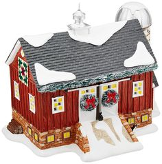 Department 56 Snwvl Mistletoe Farm Lit_house ** Check out the image by visiting the link. (This is an affiliate link) #EasyHomeDecor