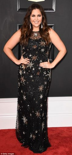 Red carpet stars: Hillary Scottof Lady Antebellum and modelBella Harris looked great in black gowns with intricate designs