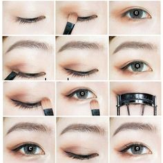 Trendy Makeup Tutorial Beginner Make Up Ideas Asian Makeup Looks, Korean Makeup Look, Korean Makeup Tips, Asian Eye Makeup, Natural Eye Makeup, Eye Makeup Tips, Makeup Ideas, Korean Makeup Ulzzang, Korean Makeup Tutorial Natural