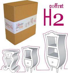 Fabriquer 4 meubles en carton, avec l'aide d'un dossier très détaillé, idéal pour ceux qui veulent débuter... http://www.collection-carton.fr/category.php?id_category=72