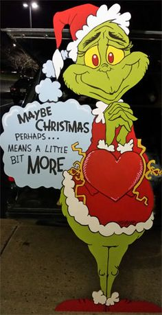 Christmas yard art Grinch yard art if you prefer him to have BLUE eyes, just let me know grinch is 4 The Grinch, Grinch Christmas Party, Christmas Yard Art, Office Christmas, Christmas Wood, Christmas Signs, Outdoor Christmas, Christmas Holidays, Xmas Party