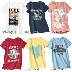 【20%OFF】レディース半袖プリントTシャツ