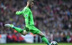 Download wallpapers David de Gea, football, Goalkeeper, Manchester United, Premier League, Spanish soccer player