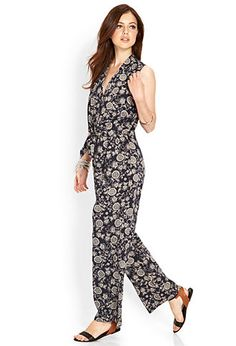 Knotted Floral Jumpsuit | LOVE21 - 2000063767