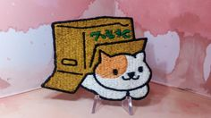 A Peaches/Kurimu (Cream) patch from the game Neko Atsume Approx. 3 at her longest point Dont forget to add the iron-on backing option if you