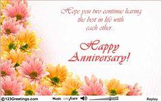 an anniversary card