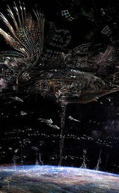 Orus - Original concept art for Orus. - Jupiter Ascending – Official Look Book (Lizard cloning HQ) Arte Sci Fi, Sci Fi Art, Fantasy Places, Sci Fi Fantasy, Arte Steampunk, Jupiter Ascending, Arte Cyberpunk, Science Fiction Art, Pulp Fiction
