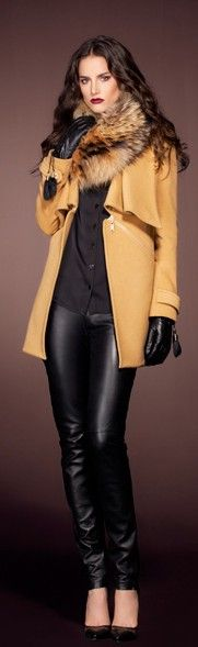 Winter 2013 camel coat.   women fashion outfit clothing stylish apparel @roressclothes closet ideas