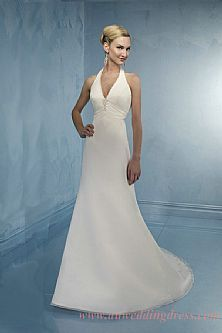 Sexy 2nd Marriage Wedding Dresses | Neck Top Halter Simple Style Sexy Wedding Dresses AU$265 AU$346