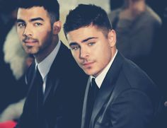 Zac Efron, Joe Jonas. My old loves. <3 ..... then came one direction.
