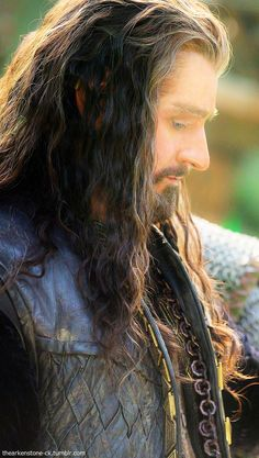Richard Armitage as Thorin Oakenshield in The Hobbit Trilogy. Hobbit Films, The Hobbit Movies, O Hobbit, The Hobbit Thorin, Bilbo Baggins, Thorin Oakenshield, Tauriel, Gandalf, Bagginshield
