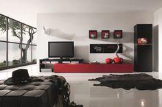 amsterdam combination 11181 modern wall unit by creative furniture schmal entertainment center heimkino