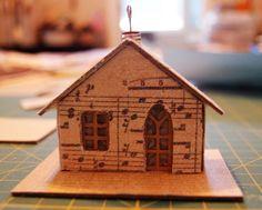 Ain't She Crafty: Melissa Frances Chipboard Houses Tutorial