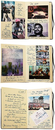 classic combo = pics + handwriting in a moleskine.