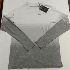 44854fdc Nike Dri-Fit Knit Long Sleeve Running Shirt Mens 885304 043 New
