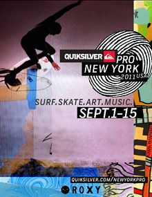 Designer David Carson and artist George Bates collaborated to create the artwork and identities for the 2011 Quiksilver Pro New York and Quiksilver Pro France surfing contest/events David Carson Design, Graphic Design Posters, Graphic Design Typography, Graphic Designers, David Rudnick, Roxy, Stefan Sagmeister, Milton Glaser, California High School
