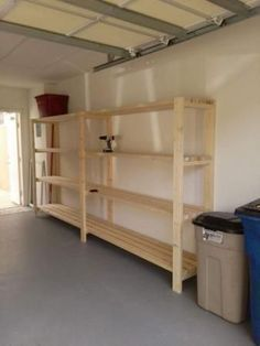 easiest diy garage shelving unit free plans garage ideas man rh pinterest com