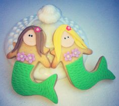 Mermaid cookies for mermaid birthday party. Available from balmain, Australia