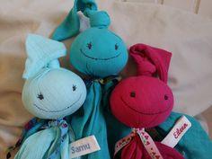 kleine Bettzipfelchen mit Namensband von WaldundWiesenkinder auf DaWanda.com