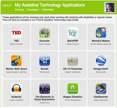 34 Assistive Technology apps with descriptions.