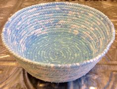 A personal favorite from my Etsy shop https://www.etsy.com/listing/264723781/round-fabric-pottery-coiled-fabric-bowl