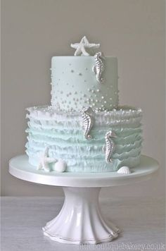 Seahorse tiered cake