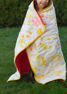 turn a vintage sheet into a quilt!