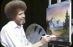 ¿Era bueno el arte de Bob Ross? - Arte - culturacolectiva.com  Bob Ross